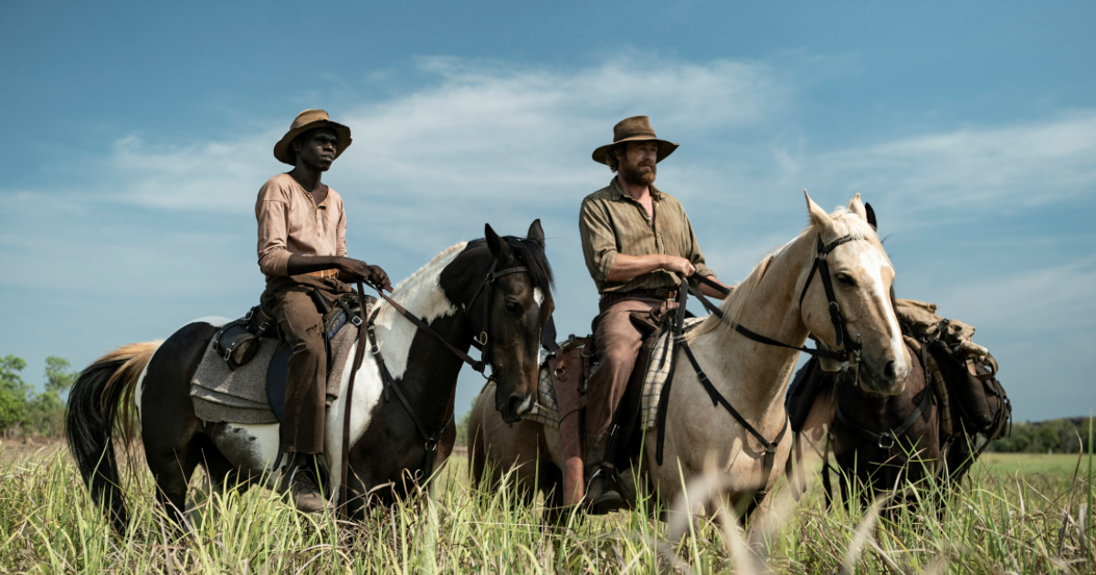 High Ground, two men on horses in australian outback